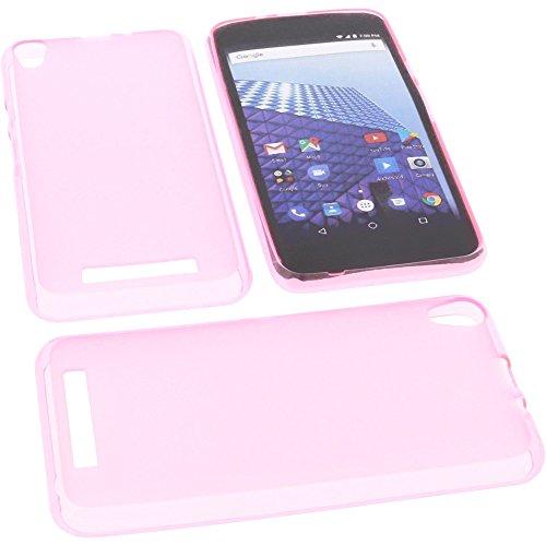 foto-kontor Tasche für Archos Access 50 4G Gummi TPU Schutz Handytasche pink