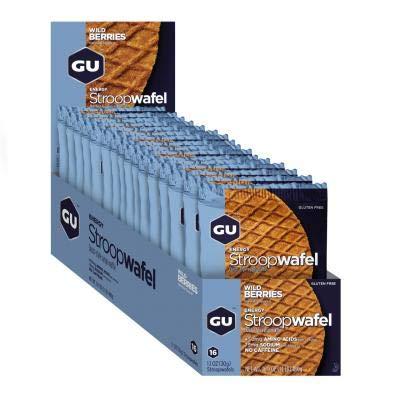 GU - 769493101624/432 : Galleta gofre energetico Bayas Wild GU Waffle 16U
