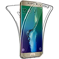 SDTEK Funda para Samsung Galaxy S6 Edge Plus 360 Doble Delantera [Transparente Carcasa] Full Body Case Bumper Cover Suave Silicona Samsung Galaxy S6 Edge Plus