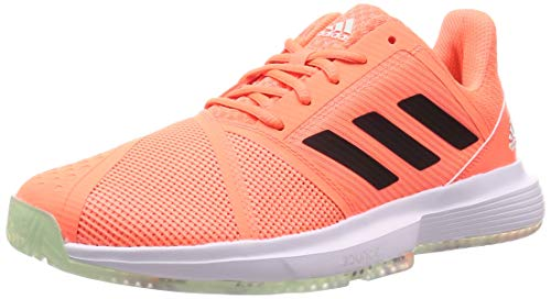 Adidas CourtJam Bounce M, Zapatos de Tenis para Hombre, Dash Green/Signal Coral/Tech Purple, 44.67 EU