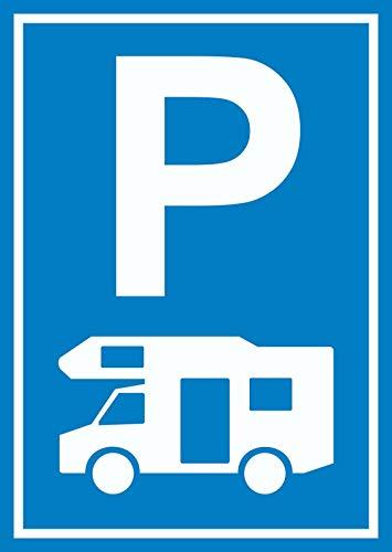 HB-Druck Wohnmobil Parkplatz Schild Camper Zelten Caravan Wohnanhänger A2 (420x594mm)