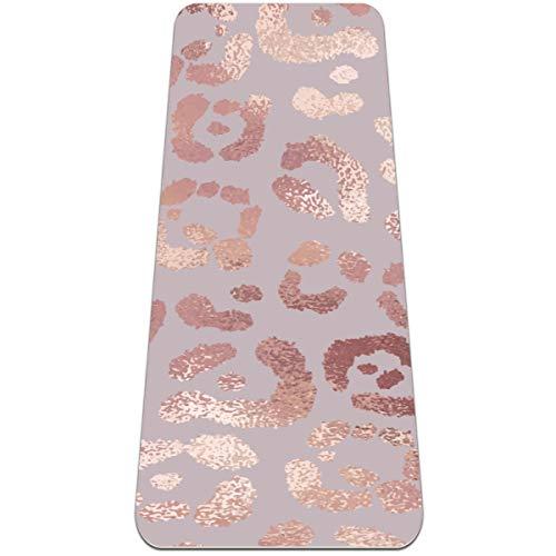 Siebzeh Fit - Esterilla de yoga (6 mm, goma ecológica, antideslizante, para todo tipo de ejercicio, yoga y pilates (72 x 24 x 6 mm de grosor)