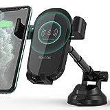 Quntis 10W/7.5W Caricatore Wireless Auto Ventosa, Cruscotto/Parabrezza Qi Caricabatterie Ricarica Rapida Supporto Telefono per iPhone 11 PRO Max XR XS X 8, Samsung Galaxy S10 S9 S8 S7 Nota 9 8 5