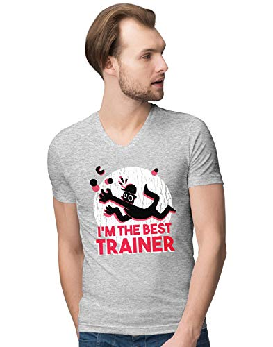 BLAK TEE Herren Best Trainer V-Neck T-Shirt L