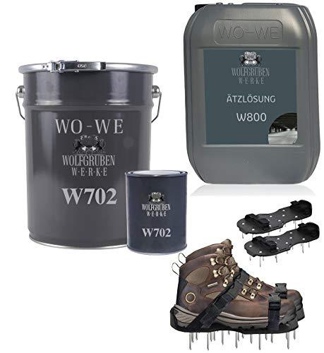 2k Epoxidharz Bodenbeschichtung Komplett Set RAL 7016 Anthrazitgrau bis zu 50qm