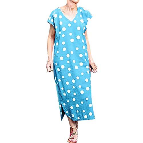 Kleider Damen,Sommerkleid Partykleid Baumwolle Leinen Strandkleid Sexy Elegant Casual Irregulär Kleider Frauen Blusekleid Ärmellos Kurzes Kleid Frauen Sommer Sleeveless Strandkleid
