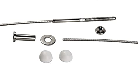 VistaView CableTec - Fast and Easy Stainless Steel Cable Railing Installation Kit for Residential Metal Posts - 1/8 Inch Cable, 10 Feet with White End Caps