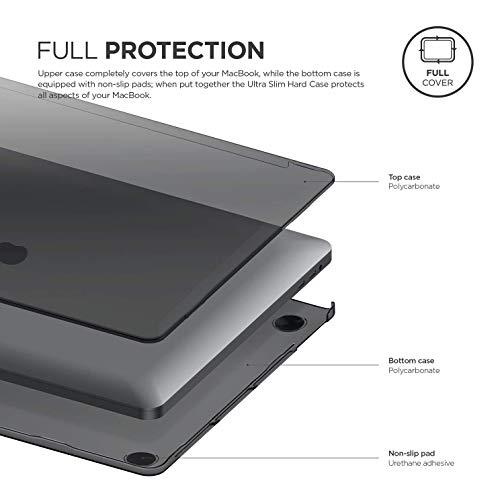 【elago】MacBookPro16ケースクリアハードカバー薄型スリムシェル透明カバー傷防止保護アクセサリー[AppleMacBookPro162019年マックブックプロマックブックプロ16インチ対応]ULTRASLIMCASEダークグレー