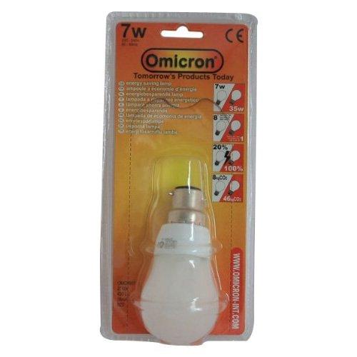 Omicron Ampoule à baïonnette à culot B22 7 W