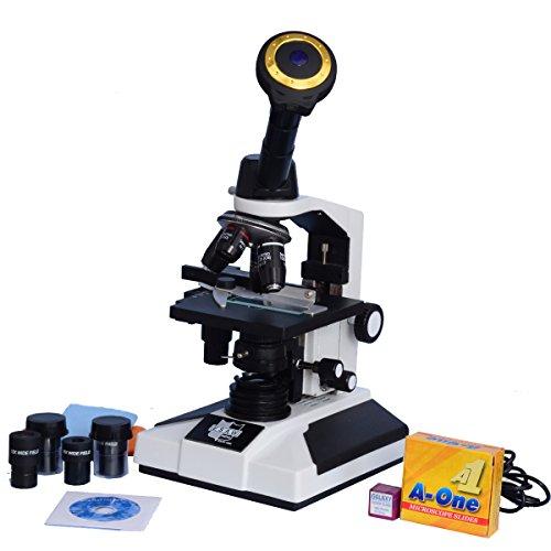 Esaw Pathological Doctor Compound Student Binocular Microscope, 40X-1500X Mag., Led Illumination With Semi-Plan Achro Objectives, 3Mp Cmos Camera And Kit