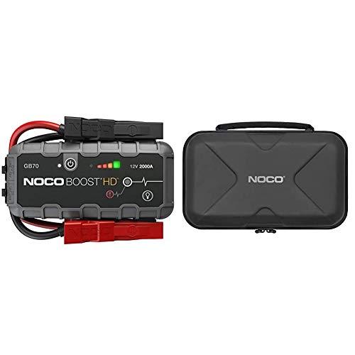 NOCO Boost HD GB70 2000 Ampere 12 Volt UltraSafe tragbares Lithium-Autobatterie-Starthilfe-Pack & GBC014 HD Eva Schutzetui für GB70 Boost UltraSafe Lithium-Starthilfe und Powerbank, Case