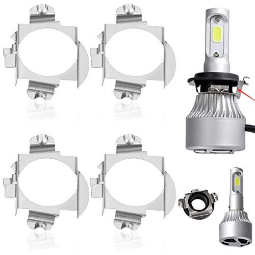 2 Par de H7 LED Base Adaptador Porta lámparas Base de Bombilla Hid Xenón Adaptadores para Coche