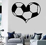 Qliyt Pegatinas De Vinilo Pegatinas De Pared Balón De Fútbol Aficionados Al Deporte Amor Decoración Del Hogar Sala De Estar Dormitorio Tatuajes De Pared Murales De Arte 58 Cm X 43 Cm