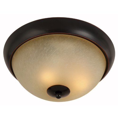 Hardware House Berkshire Series 2 Light Oil Rubbed Bronze 12 Inch by 5-1/4 Inch Flush Mount Ceiling Lighting Fixture : 16-7970