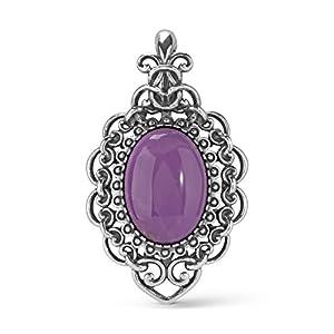 Carolyn Pollack Sterling Silver Purple Phosphosiderite Filigree Pendant Enhancer