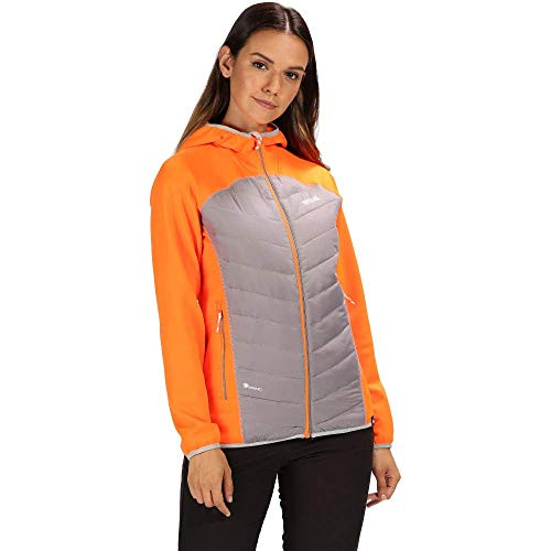 Regatta Andreson IV Damen Daunenjacke, leicht, isoliert und wasserabweisend 44 Orange (Shocking Orange/Rock Grey)