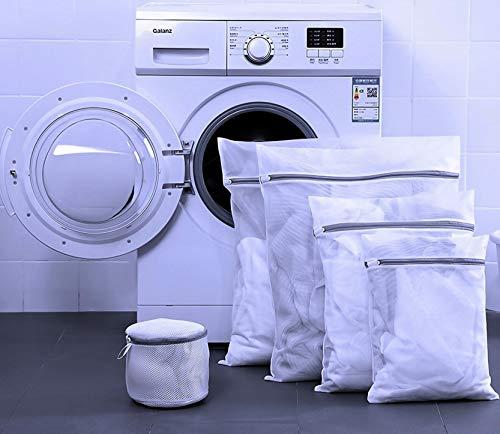 Bolsas de lavandería de malla, bolsas de lavado para lavadora, reutilizables y duraderas, medias de malla, ropa interior, sujetador, ropa interior, ropa de bebé, 5 piezas