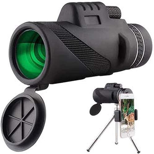 Telescopio monocular, 40X60 HD Monoculares de alta potencia Alcance monocular HD a prueba de agua para observación de aves Vida silvestre Viajar Camping, Monocular con soporte para teléfono intel