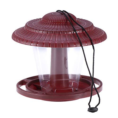 POPETPOP Alimentador de pájaros Colgador Colgante Colgador de pájaros Silvestres A Prueba de Ardillas Comederos de pájaros para jardín Exterior Pabellón Forma Rojo