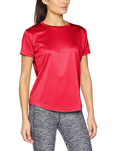 Athletic Sportswear, Active Gym T-Shirt Quality Breathable Wick Shortsleeve Long Lasting Wear (8, Red)