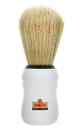 White Omega 49 Professional Pure Bristle Shaving Brush