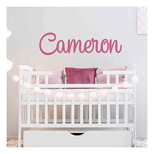 Custom Name Wall Decal for Nursery Room Decor, Personalized Vinyl Name Stickers for Baby Boys & Girls, 14 Color 12', 18', 24', 36' Size Options   Cool & Cheap Decoration Idea, Great for Baby Shower F2