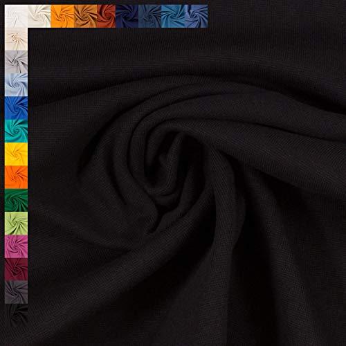 Bündchen Stoff Heike von Swafing, Schlauchware, uni schwarz (25cm x100cm)
