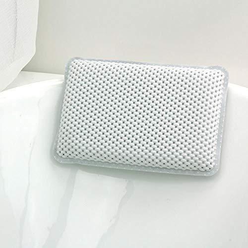 DioLm 1 Pcs Dos à la Nuque Oreiller de Baignoire Confortable avec ventouses Souple pour Le Soutien de l'épaule et du Cou