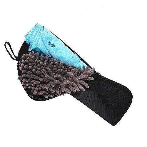 Vanly 折り畳み傘カバー 濡れない 撥水 携帯便利 超吸水 傘ケース マイクロファイバー 3様式選択 ペットボトルカバー 超吸水傘ポーチ ブラック