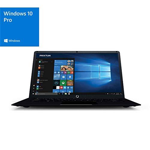 "PRIXTON Netbook Pro - Ordenador portatil / Ordenadores portatiles Pantalla 14,1"", Sistema Operativo Profesional Windows 10 Pro, Intel, RAM 4GB / ROM 64GB, Teclado en Español"