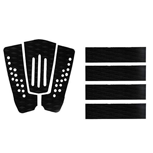 Tenlacum Almohadillas de goma EVA para tabla de surf (7 unidades), color negro