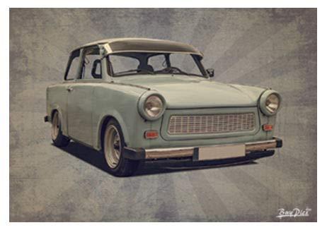 BuyPics4U Poster Plakat Wandbild mit Motiv von Trabant Tr 12 im Format DIN A1 und A2