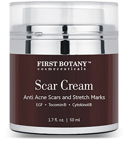 Scar Cream & Epidermal Repairing Cream 1.7 Oz. With Nobel-prized EGF & Indian Ginseng That Reduces the Appearance of Wrinkles & Assists in Wound Healing, Acne & Other Scar Removal