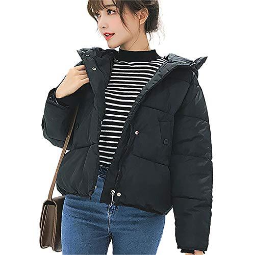 【HAFOS】ダウンコート レディース ダウンジャケット 綿 ショート丈 フード付き 軽量 厚手コート シンプル ...