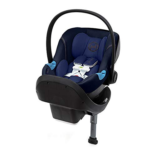 CYBEX Aton M Infant Car Seat with SensorSafe, Real-Time Mobile App Safety Alerts, Removable Newborn Insert, Includes SafeLock Car Seat Base with Latch System, Denim Blue