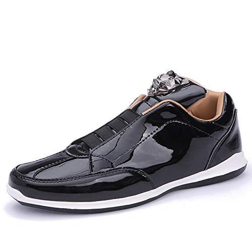TAZAN Schoenen heren herfst nieuwe heldere gezicht 2019 studenten mode lakleer mannen sport en vrije tijd enkele schoenen plat laag om te helpen ademende slijtage