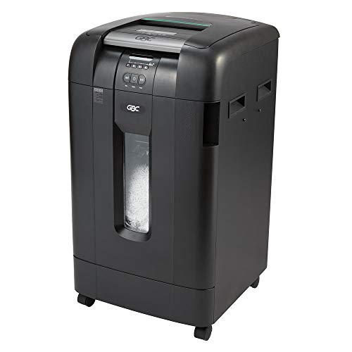 GBC Paper Shredder, Auto Feed, 500 Sheet Capacity, Micro-Cut, 10-20 Users, Stack-and-Shred 500M (1758577)