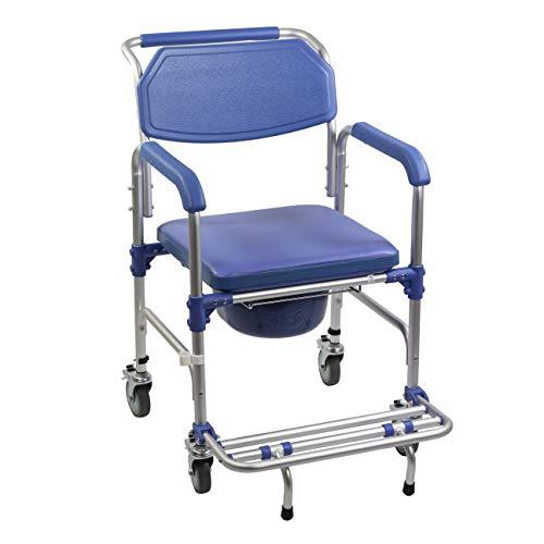 KosmoCare Premium Imported Aluminum Shower Wheelchair