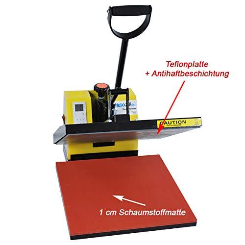 HELO Transferpresse 38 x 38 cm Standard mit Druckausgleichsfedern und verbesserter Hebeltechnik - 5