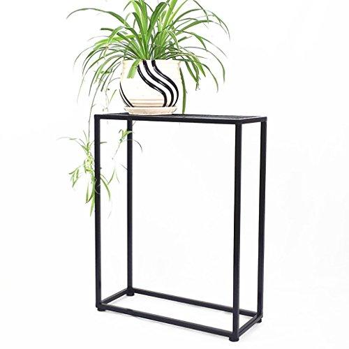 LWJJHJ Bloemstandaard Zwart Vierkant Metaal Bloempot Op Een Stand Verhoogde Indoor Plant Pot