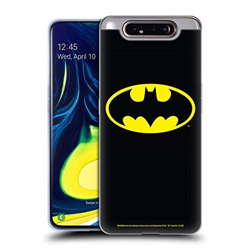 Offizielle Batman DC Comics Klassisches Logos Soft Gel Handyhülle Hülle Huelle kompatibel mit Samsung Galaxy A80 (2019)