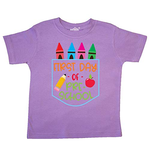 inktastic 1st Day of Preschool Crayons and Toddler T-Shirt 4T Lavender 3ba96