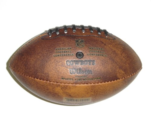Wilson NFL Dallas Cowboys 9 inch Mini Leather Official Football