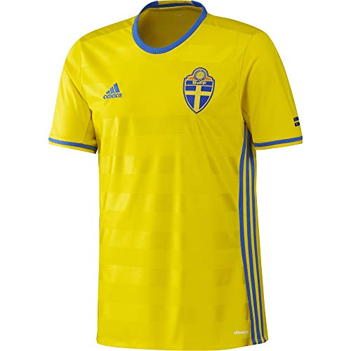adidas Herren T-shirt SVFF H JSY Kurzarm Heimtrikot, Yellow/Royal, S