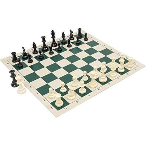 Cowslip Schachspiel 51X51cm Roll-Up-Reiseschach In Trageröhre Mit Tragetasche Leicht Zu Tragen Schach Für Anfänger Und Kinder