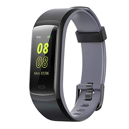 YAMAY Fitness Armband,Smartwatch Wasserdicht IP68 Fitness Uhr Fitness Tracker mit Pulsmesser Schrittzähler Pulsuhr Aktivitätstracker Sportuhr für Damen Herren Anruf SMS Beachten für iOS Android Handy