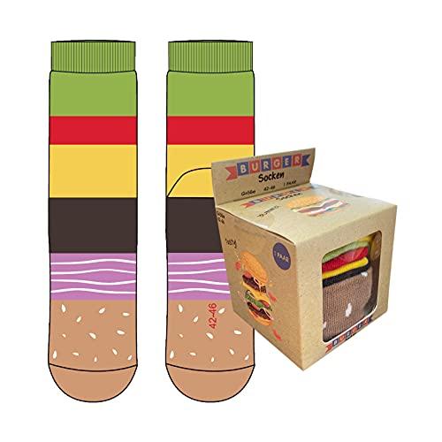 Burger Socken Größe 42-46, Farbe Mehrfarbig-B