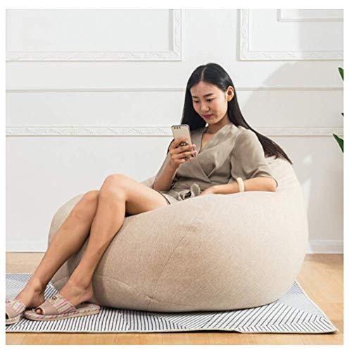 YANG Bean Bag Sofa Leisure Lazy Sofa Single Fabric Tatami Bedroom Office Living Room Comfortable Nap Pillow Large Medium and Small,Bean Bag Chairs Adult