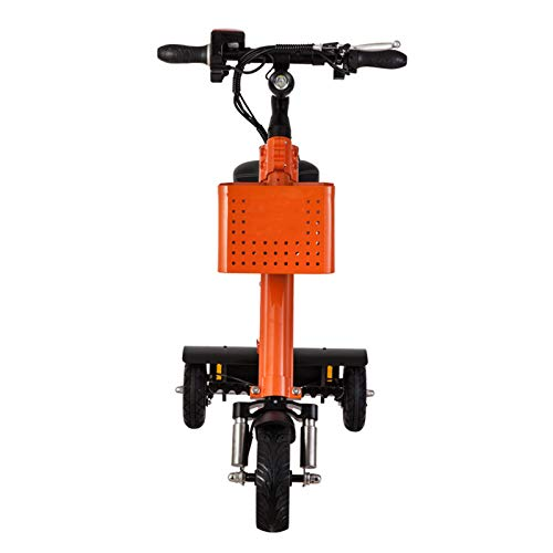 Vespa Perezosa del Mini Triciclo Elegante al Aire Libre Plegable portátil de la Vespa eléctrica,Orange