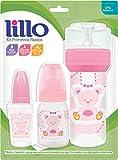 Kit de Mamadeiras 50 ml, 120 ml e 260 ml Primeiros Passos, Lillo do Brasil, Rosa
